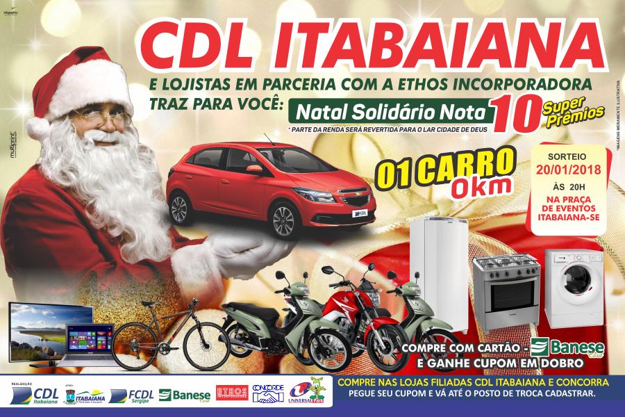 Campanha Natalina Sobral Móveis e CDL Itbaiana 2017